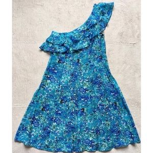 Jessica Simpson One Shoulder Floral Dress